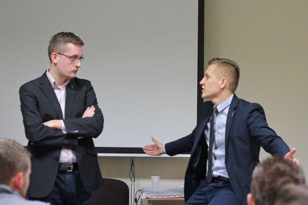 Scysja na spotkaniu Młodzieży Wszechpolskiej
