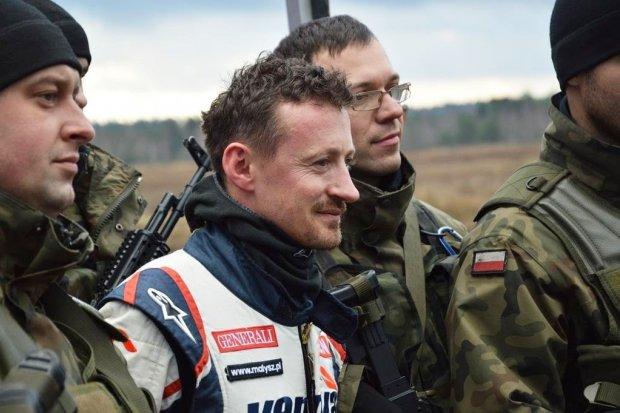 Adam Małysz na szkoleniu żołnierzy z bolesławieckiej jednostki