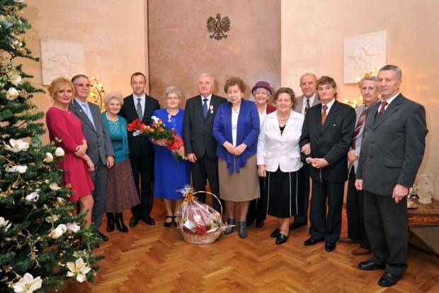 Złote gody państwa Alfredy i Mieczysława Tomasików