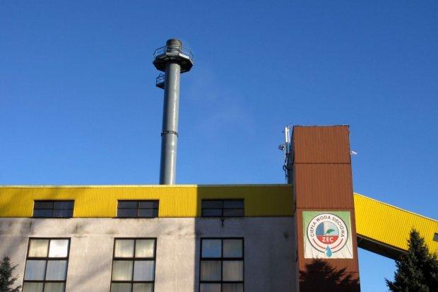 Odbudowany komin ZEC
