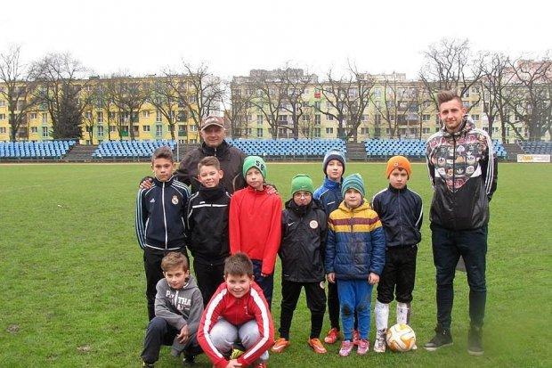 Eryk Sobków na treningu orlików BKS