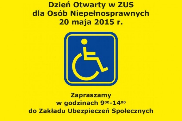 ZUS i niepełnosprawni – 20 maja Dzień Otwarty