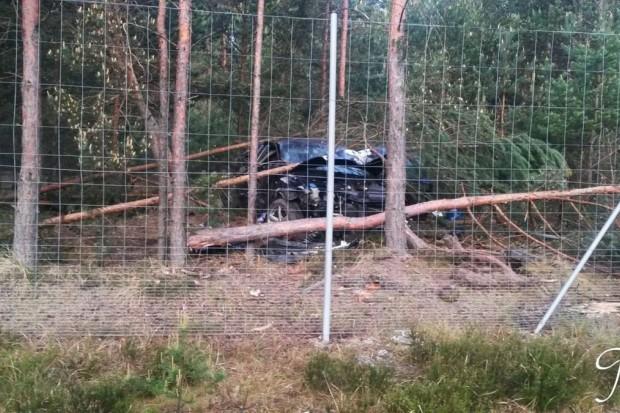 Zderzenie dwóch aut na drodze krajowej A18