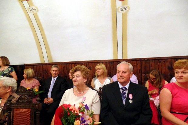 Uroczystość z okazji długoletniego pożycia małżeńskiego