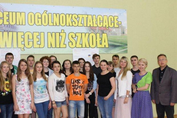 Młodzi goście z Równego na Ukrainie w Bolesławcu