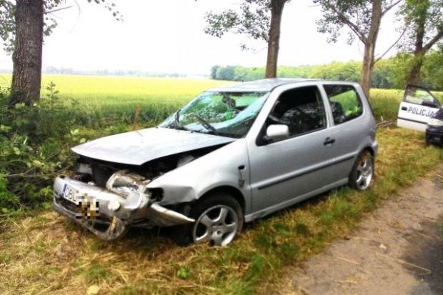 Wypadek drogowy koło Wartowic