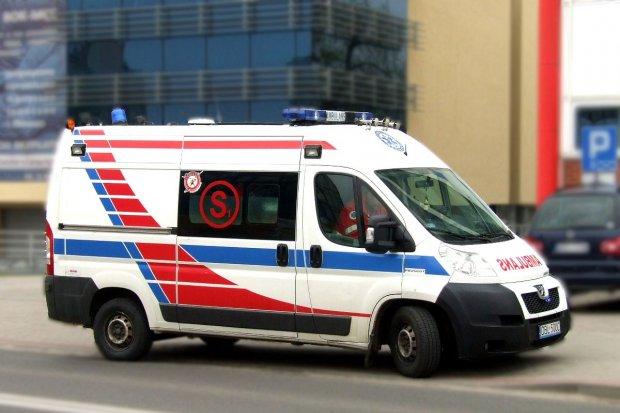 Rowerzysta ranny koło Gromadki