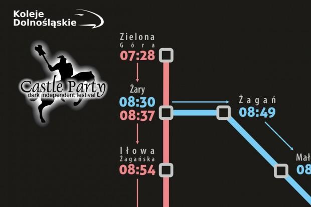 Mroczne Koleje Dolnośląskie, czyli pociąg specjalny na Castle Party