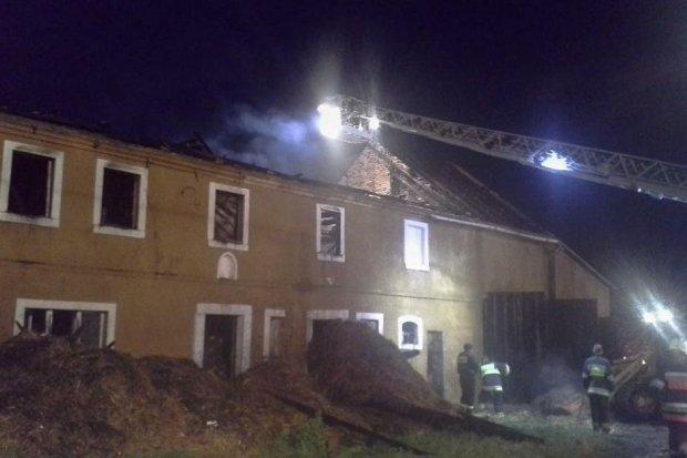 Pożar w Milikowie. Akcja trwała ponad 9 godzin
