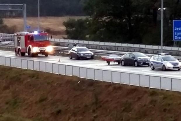 Karambol na A4 koło Krzywej – zderzyło się 6 pojazdów