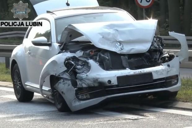 Dwa wypadki na krajowej trójce, siedem osób w szpitalu