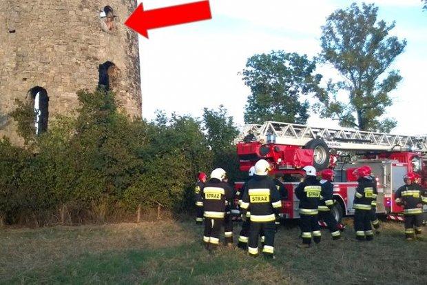 Wspiął się na wapiennik w Raciborowicach i nie mógł zejść