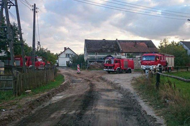 Pożar w Borówkach (gmina Gromadka). Jedna osoba ranna