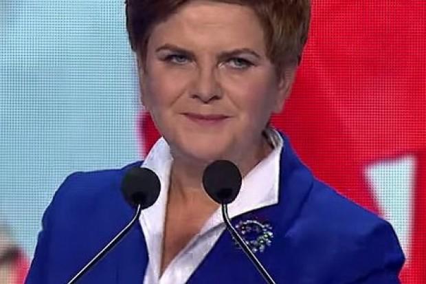 Kandydatka PiS-u na premiera Beata Szydło w Lubinie: konferencja prasowa i spotkanie z mieszkańcami