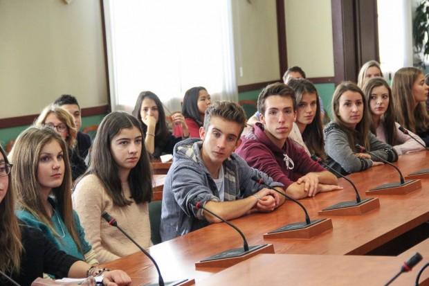 Uczniowie z Francji u prezydenta Legnicy