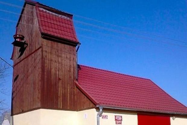 Odnowiona remiza w Gościszowie (gmina Nowogrodziec)