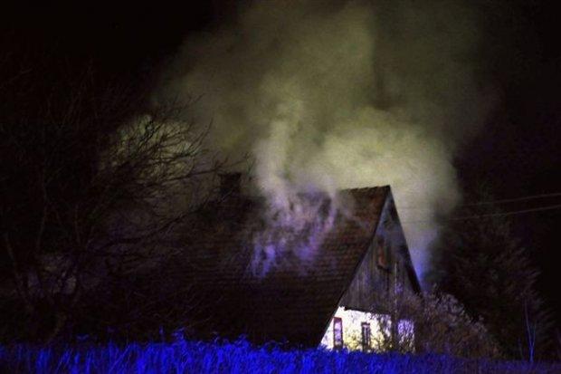 Pożar domu w Warcie Bolesławieckiej