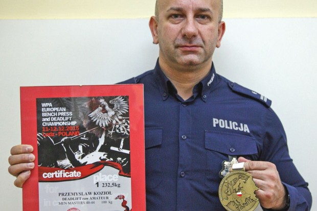 Dolnośląski policjant mistrzem Europy w dwuboju siłowym