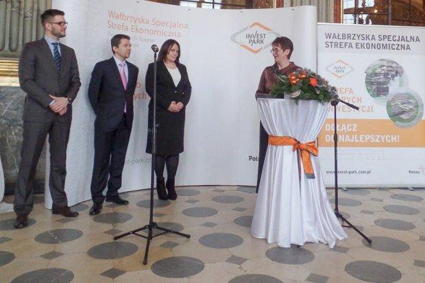 Uroczyste wręczenie zezwolenia dla Rhenus Logistics Bolesławiec