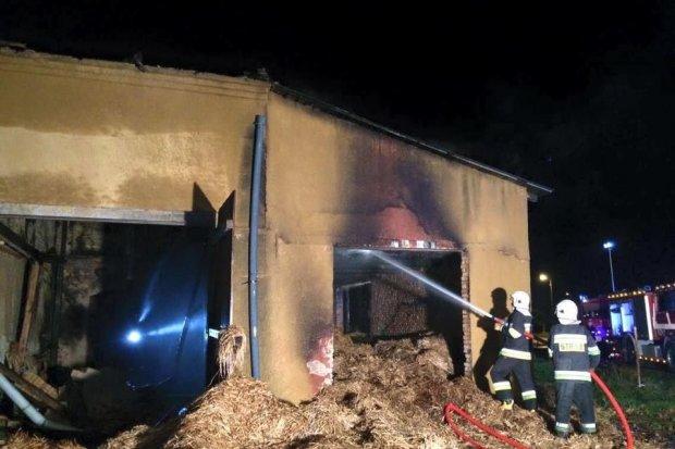 Pożar w Warcie i Milikowie (gmina Nowogrodziec)