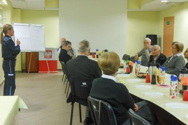 Prewencyjne spotkanie z podopiecznymi Polskiego Związku Niewidomych