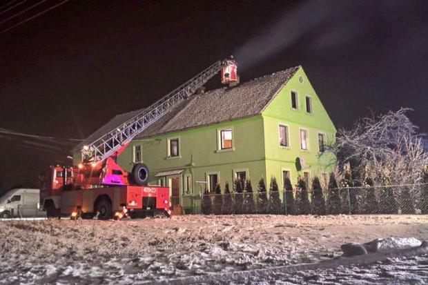 Pożar w Gierałtowie (gmina Nowogrodziec)