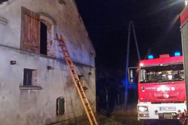 Pożar domu w Ołoboku