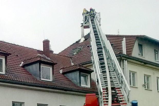 Pożar w budynku na ulicy Gdańskiej