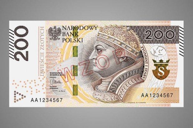 Zmodernizowany banknot 200-zł w obiegu. Wkrótce... banknot 500-zł
