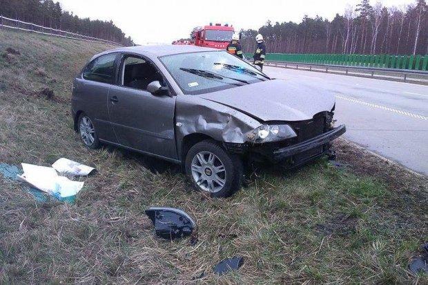 Wypadek na 25 kilometrze A4