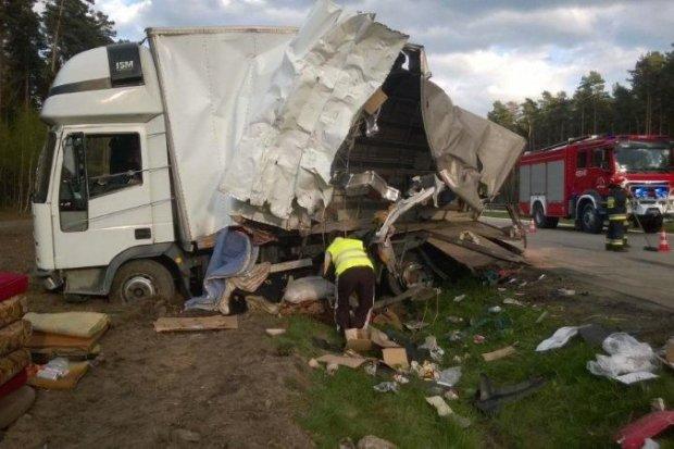 Zderzenie ciężarówek na autostradzie A4