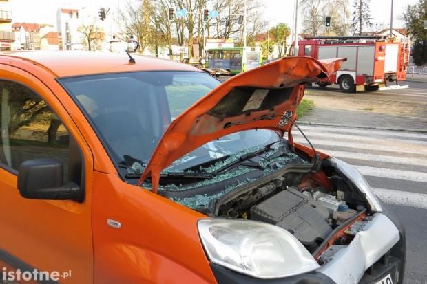 Wypadek na skrzyżowaniu Łokietka i Zgorzeleckiej