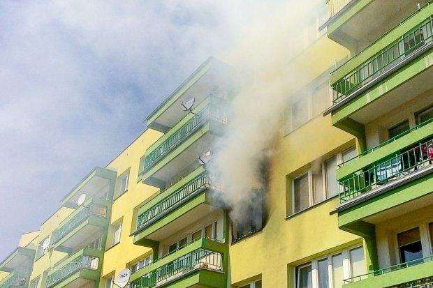 Pożar na Jana Pawła II