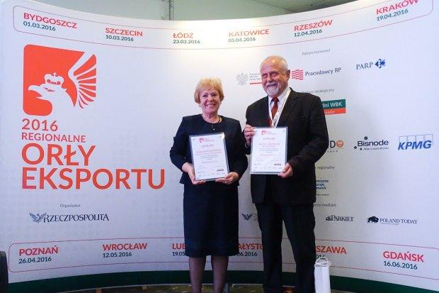 Z.C Bolesławiec i Janina Bany-Kozłowska nagrodzeni Regionalnymi Orłami Eksportu 2016