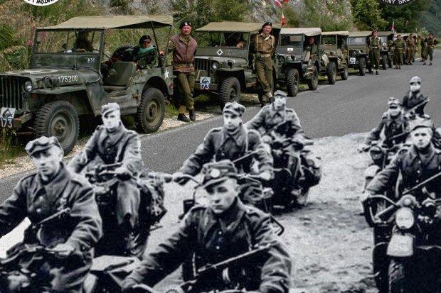 Auta z czasów II wojny światowej na bolesławieckim Rynku