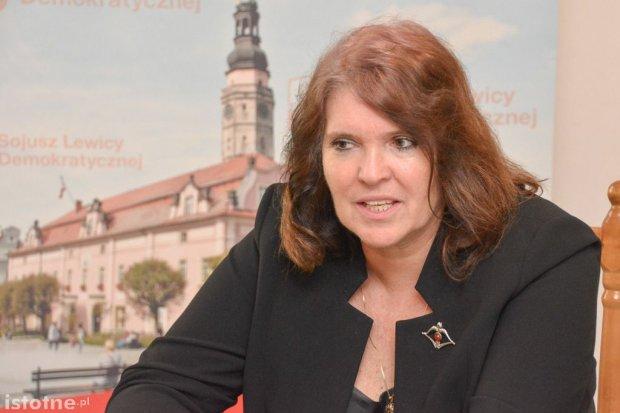 Była posłanka SLD Małgorzata Sekuła-Szmajdzińska w Bolesławcu