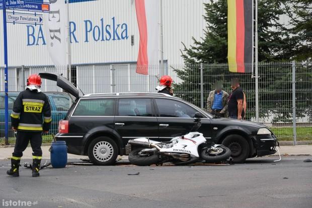 Wypadek na skrzyżowaniu Dolne Młyny–Mostowa. Dwie osoby ranne
