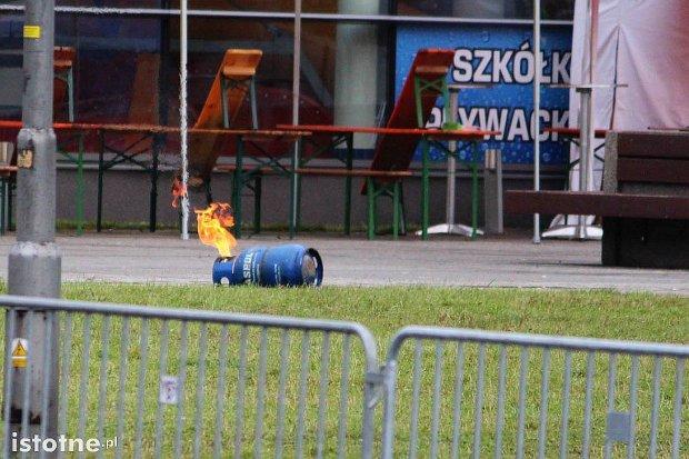 Zapaliła się butla gazowa przy Orce