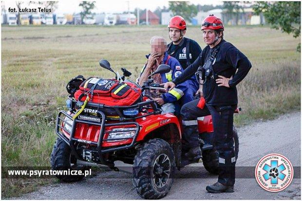 73-latek z Kierżna odnaleziony. W akcji poszukiwawczej wzięło udział 108 osób i 3 psy