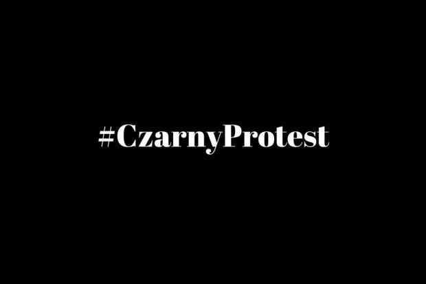 #Czarnyprotest przeciw zaostrzeniu ustawy antyaborcyjnej