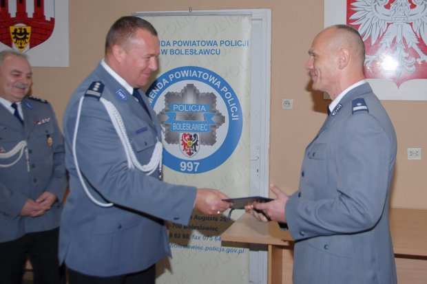 Podinsp. Dariusz Borski oficjalnie wiceszefem bolesławieckiej policji
