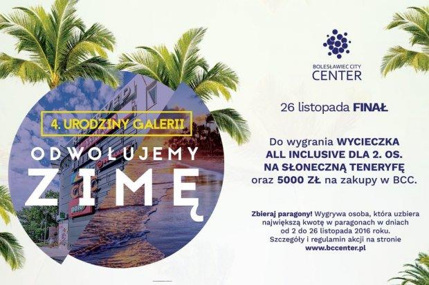 Konkurs Galerii Bolesławiec City Center: do wygrania wycieczka na Teneryfę