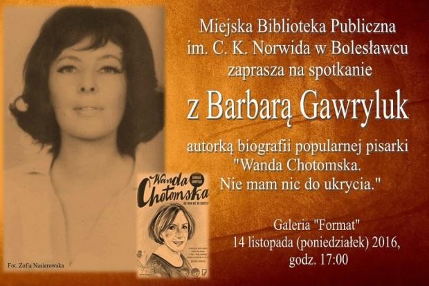 Z Barbarą Gawryluk o Wandzie Chotomskiej, królowej polskiej literatury dla dzieci