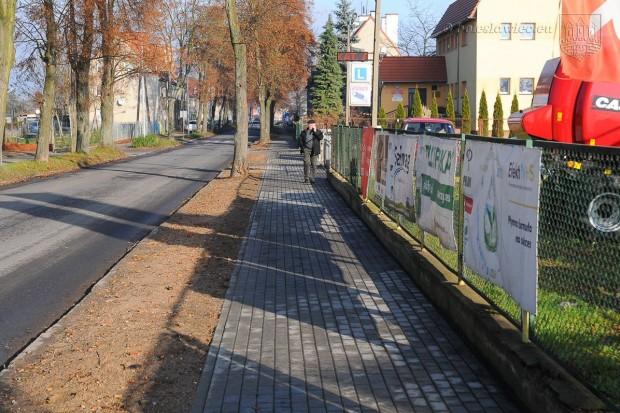 Remont chodnika przy ul. Dolne Młyny zakończony