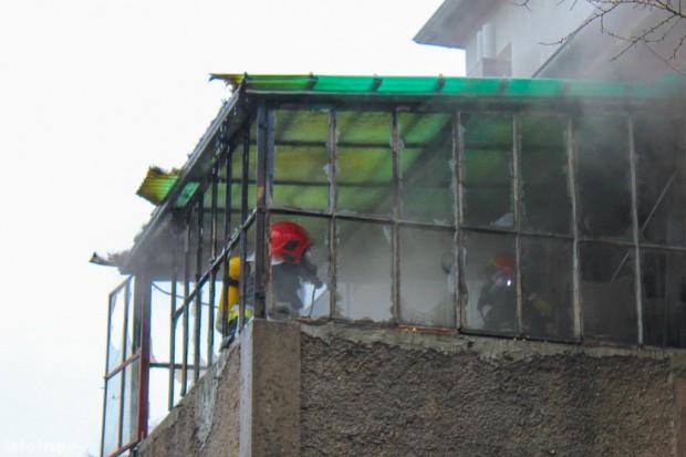 Pożar w budynku wielorodzinnym przy al. Tysiąclecia