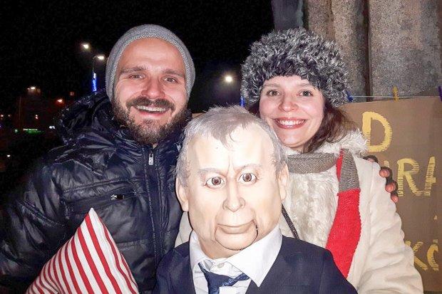 """""""Internowali"""" kukłę Jarosława Kaczyńskiego"""