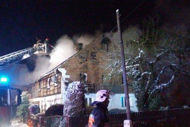 Pożar domu w Nowej Wsi Kraśnickiej