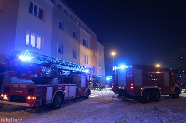 Pożar w mieszkaniu na Cichej
