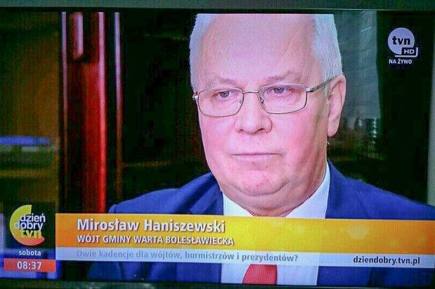 Wójt Mirosław Haniszewski w Dzień Dobry TVN