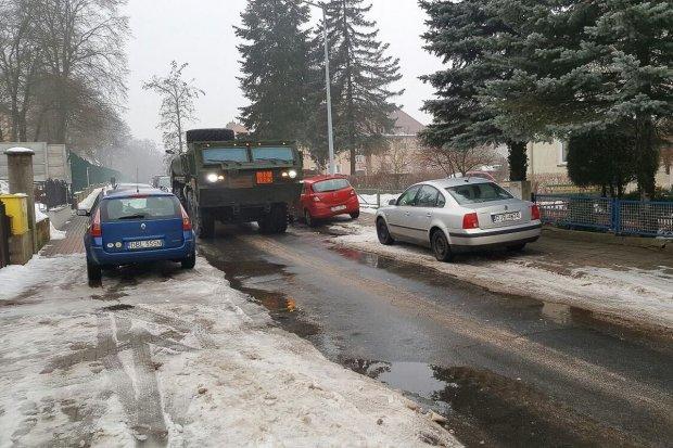 US Army ma problem z poruszaniem się ulicami Bolesławca
